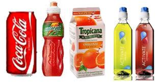 Soda, Sports Drinks, Flavored Water, and Juice are Sugary Drinks