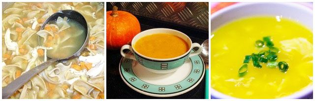 soups produce fullness for hours due to the high water content