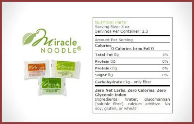 Miracle Noodle Nutrition Information