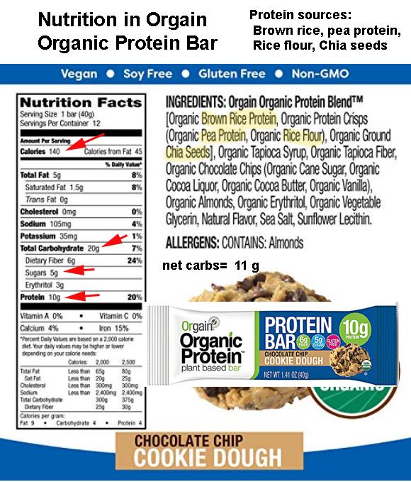 Orgain organic high protein bar